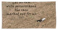 Run The Race Beach Towel