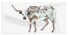 Running Back Texas Longhorn Lh070 Beach Towel