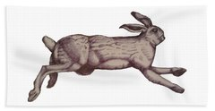 Running Bunny Jan 27 Beach Towel