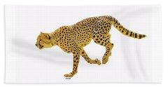 Running Cheetah 2 Beach Towel