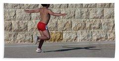 Running Child Beach Towel