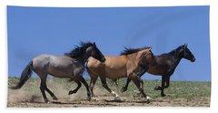 Running Free- Wild Horses Beach Towel