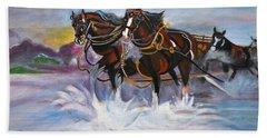 Running Horses- Beach Gallop Beach Towel