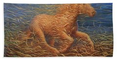 Running Swirly Horse Beach Towel