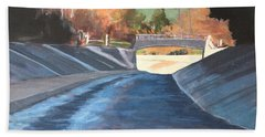 Running The Arroyo, Wet Beach Towel by Richard Willson