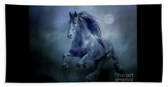 Running With The Moon Beach Towel