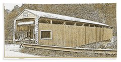 Rupert Covered Bridge Bloomburg Pennsylvania Beach Sheet by A Gurmankin