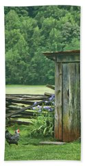 Beach Towel featuring the photograph Rural Outhouse by Nikolyn McDonald