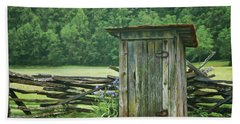 Rural Outhouse Beach Towel