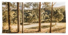 Rural Paddock In Australian Countryside Beach Towel