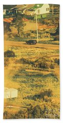 Rural Tasmania Landscape At Summer Beach Towel