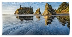 Ruby Beach Reflection Beach Towel