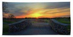 Rush Creek Golf Course The Bridge To Sunset Beach Towel