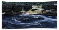 Beach Sheet featuring the photograph Rushing By The Falls by Heidi Hermes