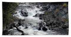 Rushing Water Beach Towel by Catherine Gagne
