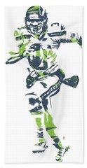 Russell Wilson Seattle Seahawks Pixel Art 14 Beach Towel