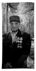Beach Towel featuring the photograph Russian Afghanistan War Veteran by John Williams