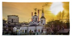Beach Sheet featuring the photograph Russian Ortodox Church In Moscow, Russia by Alexey Stiop