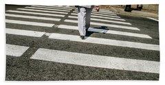 Russian Street Crossing Beach Sheet by KG Thienemann