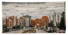 Russian Urban Life Beach Towel