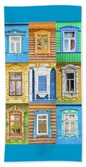 Beach Sheet featuring the photograph Russian Windows by Delphimages Photo Creations