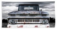 Rust And Proud - 62 Chevy Fleetside Beach Towel