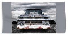 Rust And Proud - 62 Chevy Fleetside Beach Sheet