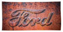 Rust Never Sleeps - Ford Beach Towel