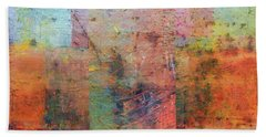 Beach Towel featuring the painting Rust Study 1.0 by Michelle Calkins