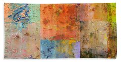 Beach Towel featuring the painting Rust Study 2.0 by Michelle Calkins