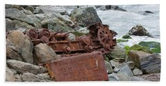 Rusted In Place Beach Sheet by Kandy Hurley