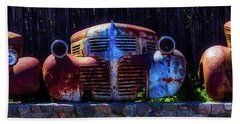 Rusted Out Old Cars Beach Sheet by Garry Gay