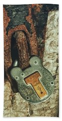 Beach Towel featuring the photograph Rusted Security by Andrea Platt