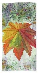 Rustic Autumn Beach Towel by Elvira Ingram