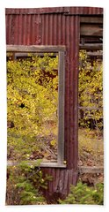Rustic Autumn Beach Sheet by Leland D Howard