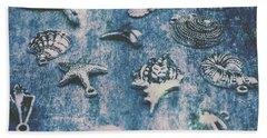 Rustic Blue Beach Art Beach Towel