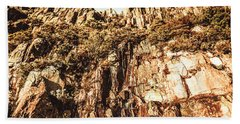 Rustic Cliff Spring Beach Towel