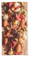 Rustic Dried Fruit And Nut Mix Beach Towel