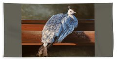 Rustic Elegance - White Peahen Beach Sheet