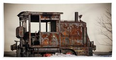 Rustic Engine 3 Beach Towel by Judy Wolinsky