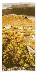 Rustic Mountain Terrain Beach Towel