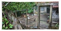 Beach Towel featuring the photograph Rustic Old House In Galicia by Eduardo Jose Accorinti