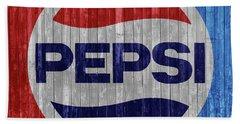 Rustic Pepsi Logo Beach Towel
