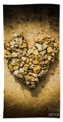 Rustic Rock Romance Beach Towel
