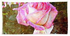 Rustic Rose Beach Towel