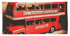 Rustic Routemaster Beach Towel