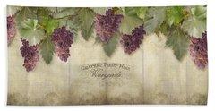 Rustic Vineyard - Pinot Noir Grapes Beach Towel