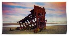 Rusting Shipwreck Beach Towel