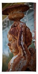 Beach Towel featuring the photograph Rusty Angel by Linda Unger