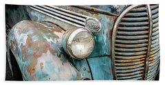 Rusty Blues Beach Sheet by David Lawson